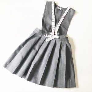 Girls Pleated Pinafore